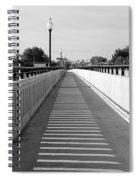 Prosser Bridge Perspective - Black And White Spiral Notebook
