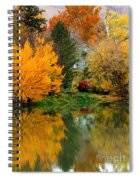 Prosser - Fall Reflection With Hills Spiral Notebook