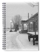 Prosser Winter Train Station  Spiral Notebook