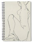 Prostrate Female Nude Spiral Notebook