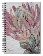 Protea Study 1 Spiral Notebook