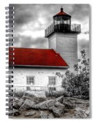 Protector Of The Harbor - Sand Point Lighthouse Spiral Notebook