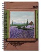 Provence Lavander Fields Original Acrylic Spiral Notebook
