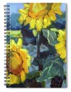 Provence Sunflower Trio Spiral Notebook