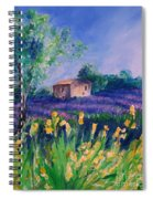 Provence Yellow Flowers Spiral Notebook