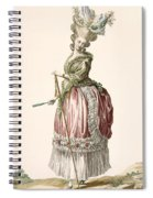 Provencial Style Ladys Walking Gown Spiral Notebook