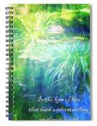 Proverbs 10 13 Spiral Notebook