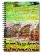 Proverbs 10 14 Spiral Notebook