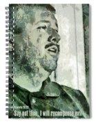 Proverbs 20 22 Spiral Notebook