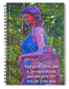 Proverbs 4 24 Spiral Notebook
