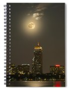 Prudential Tower With Supermoon 2013 Spiral Notebook