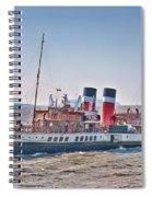 Ps Waverley Approaching Penarth Spiral Notebook