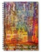 Psalm 116 7 Spiral Notebook