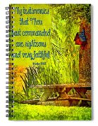 Psalm 119 138 Spiral Notebook
