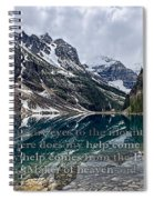 Psalm 121 With Mountains Spiral Notebook