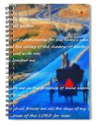 Psalm 23 Country Roads Spiral Notebook