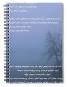 Psalm 23 Foggy Morning Spiral Notebook