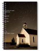 Psalm 23 Night Photography Star Trails Spiral Notebook