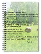 Psalm 23 The Lord Is My Shepherd Spiral Notebook