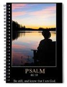 Psalm 46 Spiral Notebook