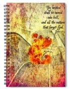 Psalm 9 17 Spiral Notebook
