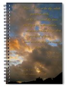 Psalm Eight Spiral Notebook