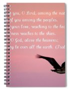Psalm With Pelican And Pink Sky Spiral Notebook