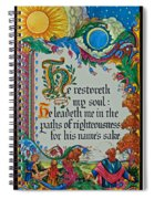 Psalms 23-3 Spiral Notebook