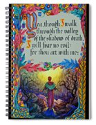 Psalms 23-4a Spiral Notebook