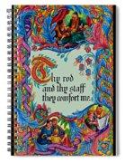 Psalms 23-4b Spiral Notebook