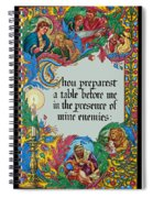 Psalms 23-5a Spiral Notebook