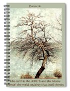 Psalms 24 V 1 Spiral Notebook