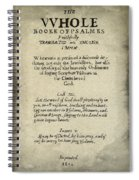 Psalms Hand Written Book Plate 1640 Spiral Notebook