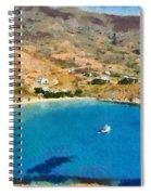 Psili Ammos Beach In Serifos Island Spiral Notebook