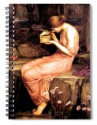 Psyche Opening The Golden Box 1903 Spiral Notebook