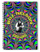 Psychedelic Bill Nelson Deluxe Spiral Notebook