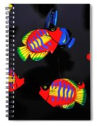 Psychedelic Flying Fish Spiral Notebook