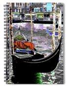 Psychedelic Gondola Venice Spiral Notebook