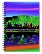 Psychedelic Lake Matheson Ner Zealand 3 Spiral Notebook