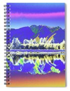 Psychedelic Lake Matheson New Zealand 2 Spiral Notebook