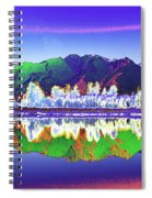 Psychedelic Lake Matheson New Zealand Spiral Notebook