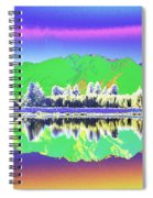 Psychedelic Mirror Lake New Zealand 3 Spiral Notebook