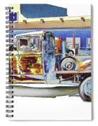 Psychedelic Old Pickup Truck Spiral Notebook