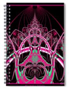 Psychedelic Rollercoaster Tunnel Fractal 65 Spiral Notebook