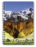 Psychedelic Southern Alps New Zealand Spiral Notebook