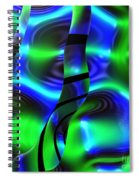 Psychedelic Streamers By Jammer Spiral Notebook