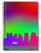 Psychedelic Vancouver Skyline Triptych Centre Spiral Notebook