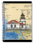 Pt Bonita Lighthouse Ca Nautical Chart Map Art Spiral Notebook