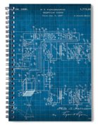 Pt Farnsworth Television Patent Blueprint 1930 Spiral Notebook