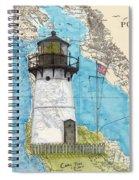 Pt Montara Lighthouse Ca Nautical Chart Map Art Cathy Peek Spiral Notebook